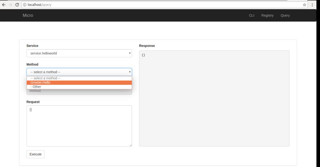 micro-web query select service method